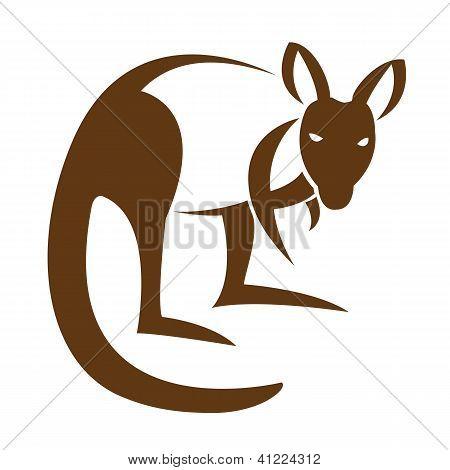 Imagem vetorial de um canguru