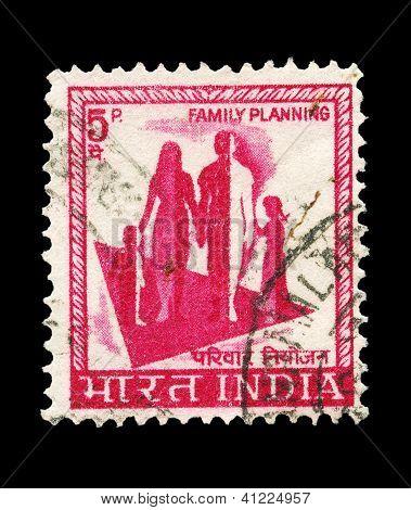 indische Post Stempel