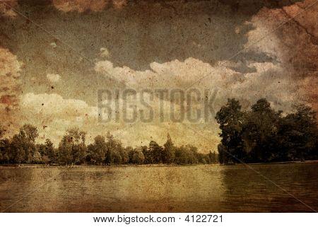 Old fashioned künstlerischen Landschaft