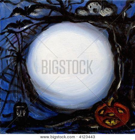 Halloween Moon Message