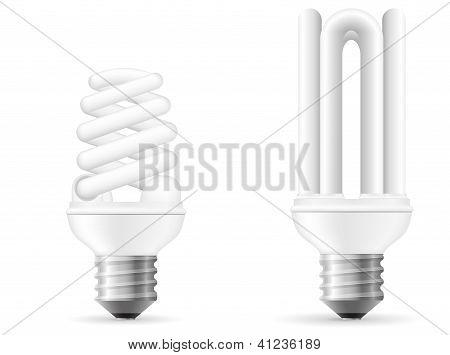 Ilustração do vetor de lâmpada de poupança de energia