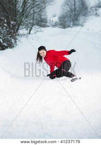 Winter Running vrouw