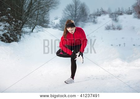 Winter Running Woman