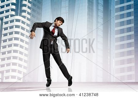 Puppet businessman