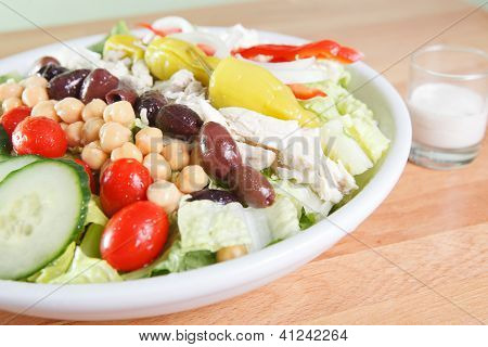 Hearty large garden salad