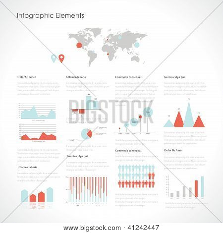 Set elements of infographics. Vector