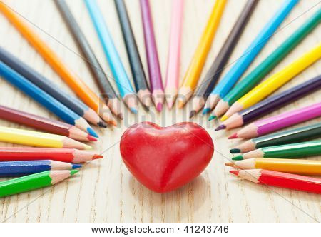 Heart And Pencil