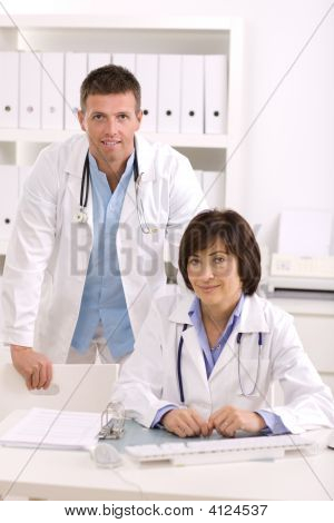 Medical Doctors At Office