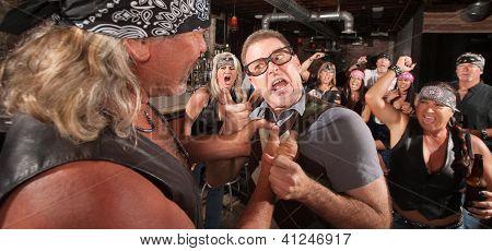 Bully Grabbing Angry Nerd