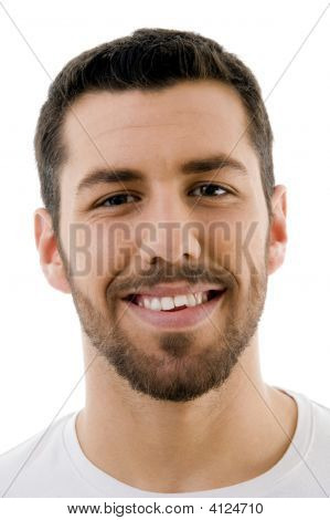 Close Up Of Smiling Male