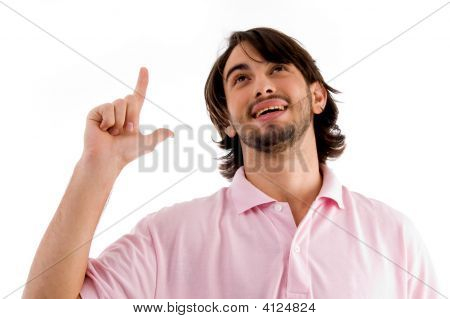 Man Showing Happiness With Hand Gesture