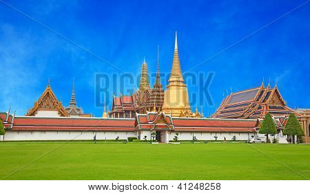 Grand Palace and Temple of Emerald Buddha complex in Bangkok, Thailand