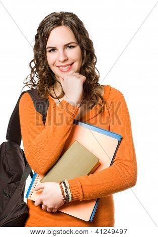Young Pretty Student Girl.