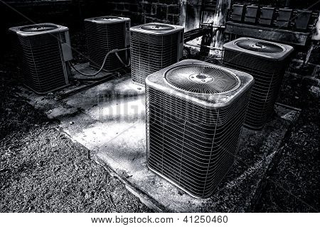 Commercial Air Conditioner Compressor Ac Units Set
