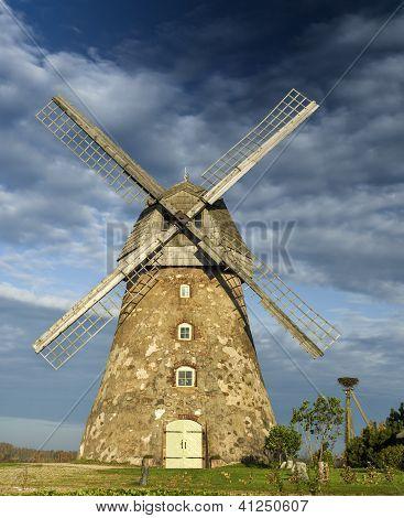 Medieval windmill in Araishi,Latvia