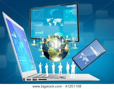 laptop,mobile phone,touch screen device (Elements of this image furnished by NASA)