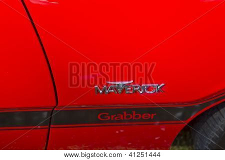 Red Ford Maverick Grabber Side Panel