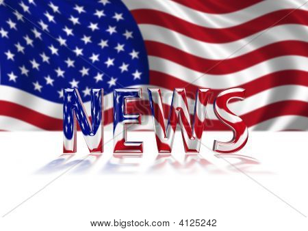 3D Shiny Usa News Text