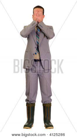 Embarassed Businessman