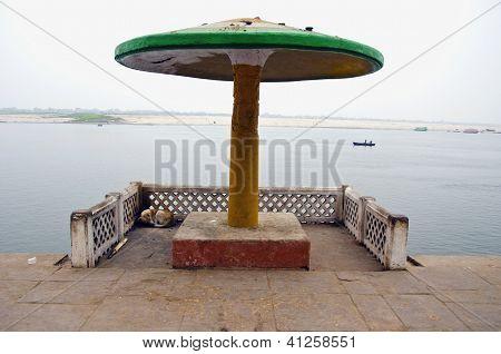 Summerhouse On Sacred Ganga River Coast