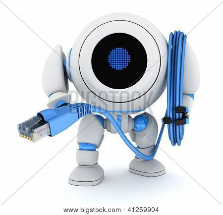 Robot And Computer Cable
