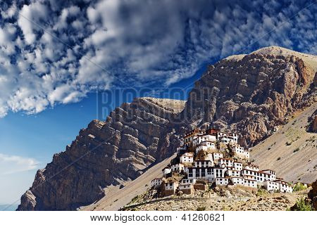 Ki monastery in himalayas mountain