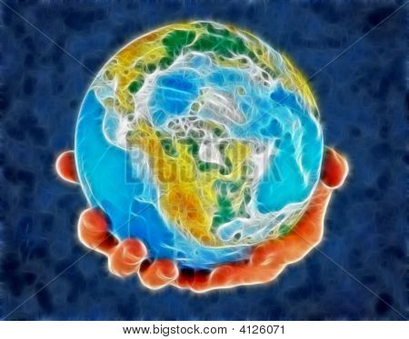Globe, In A Center America