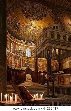 Apse of Santa Maria in Trastevere - Rome, Italy