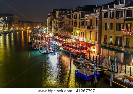 Grand Canal In Venice. Night