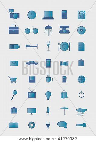 Symbols On A Gray Background.
