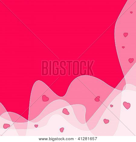 Beautiful Pink Abstract Background To The Valentine Day With Space For Text