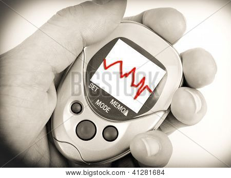 Red Heartbeat Pedometer