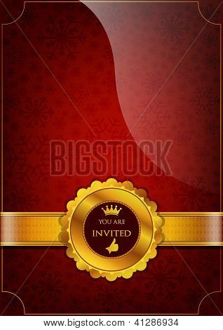 Red Invitation Design