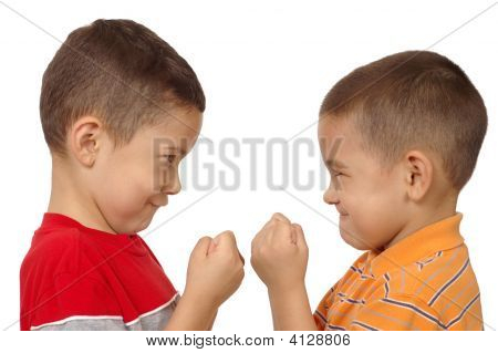 Boys Fighting, Aged Five And Six Years