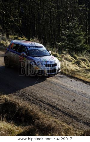 Suzuki Team At Wales Rally Gb 2008