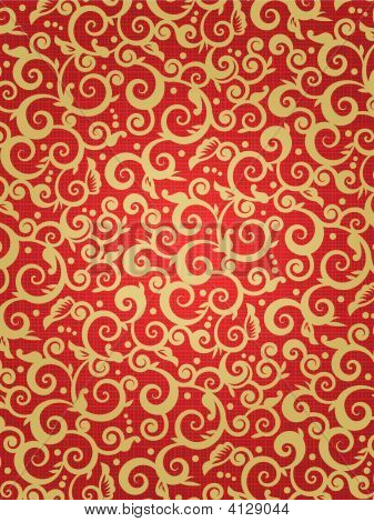 Red And Gold Ornate Background