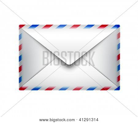 mail icon - isolated on white