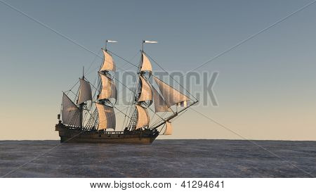 ship in the ocean