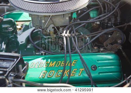 Black 1952 Oldsmobile Super 88 Engine
