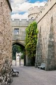Narrow Street Of Medieval Castle poster