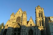 Medieval French Church In Senlis poster