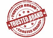 Trusted Brand Stamp poster