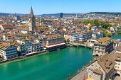 stock photo of zurich  - Zurich Cityscape  - JPG
