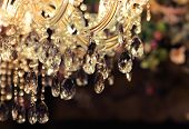 stock photo of chandelier  - Chrystal chandelier close - JPG