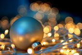 picture of christmas ornament  - Christmas ornament and lights  - JPG