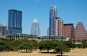 image of cbd  - skyline in downtown of austin - JPG