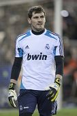 VALENCIA - JANUARY 20: Iker Casillas during Spanish Soccer League match between Valencia CF and Real