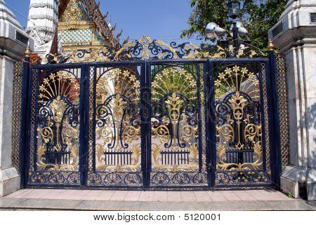 Decorative Gate. Entrance. Closed Gate