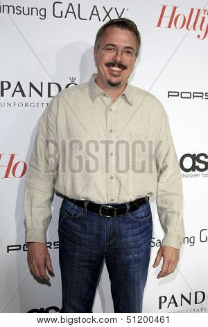 LOS ANGELES - SEP 19:  Vince Gilligan at the The Hollywood Reporter's Emmy Party at Soho House on September 19, 2013 in West Hollywood, CA
