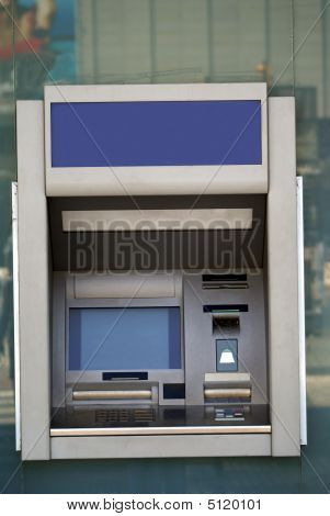Cash Point Or Machine. Atm. Hole In The Wall